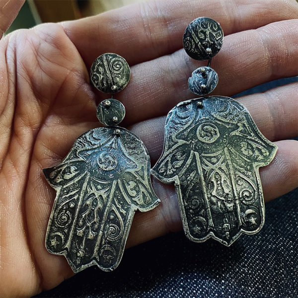 Sacred Connections Hamsa Earrings by Susan Wachler Jewelry