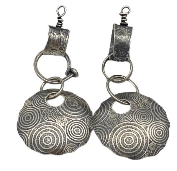 Concentric Connections Modern Geometric Earrings by Susan Wachler Jewelry