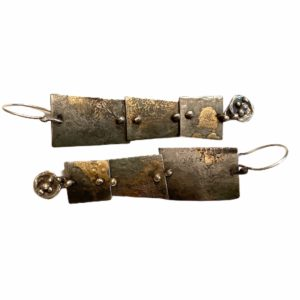 Industrial Connections Mixed Metal Steel Earrings by Susan Wachler Jewelru