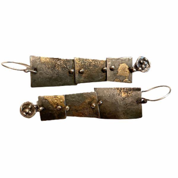 Industrial Connections Mixed Metal Steel Earrings by Susan Wachler Jewelru