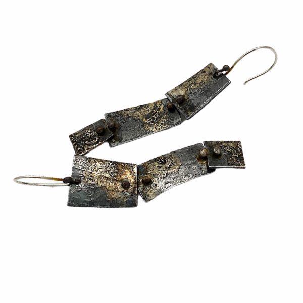 Industrial Elegance Earrings Steel Jewelry by Susan Wachler Jewelry