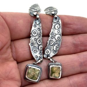 Marine Connections Sea Urchin Fossil Earrings by Susan Wachler Jewelry