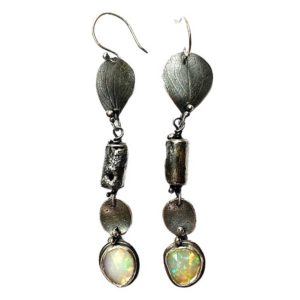 Precious Connections Sterling Silver Opal Earrings by Susan Wachler Jewelry