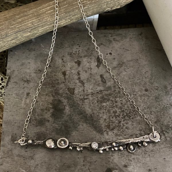 Cherished Connections Textured Silver Necklace by Susan Wachler Jewelry