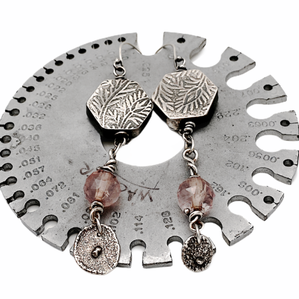 Heirloom Connections Rose Quartz Earrings by Susan Wachler Jewelry