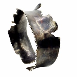 Rough Edges Sterling Silver Raw Metal Cuff Bracelet by Susan Wachler Jewelry