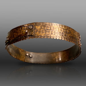 Textured Connections Brass Riveted Bracelet by Susan Wachler Jewelry