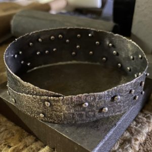 Impromptu Connections Riveted Silver Bracelet by Susan Wachler Jewelry