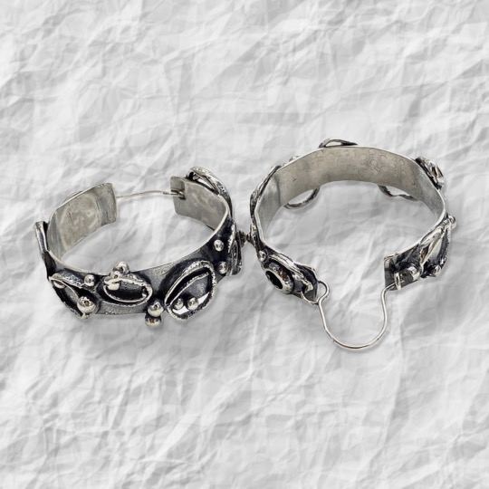 Transitional Connections Sterling Silver Hoop Earrings by Susan Wachler Jewelry