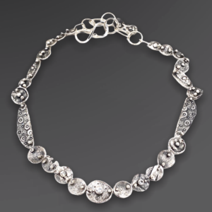 Communal Connections Silver Gemstone Necklace y Susan Wachler Jewelry