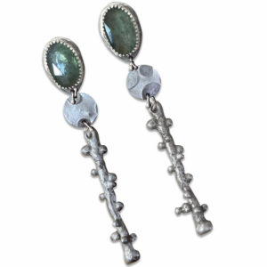Lunar Connections Moss Kyanite Earrings by Susan Wachler Jewelry