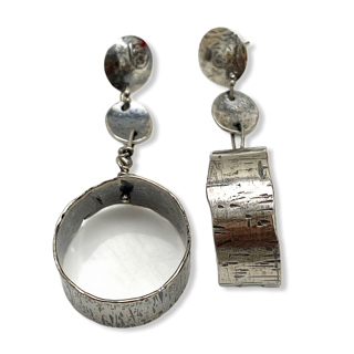 Universal Connections Long Hoop Earrings by Susan Wachler Jewelry
