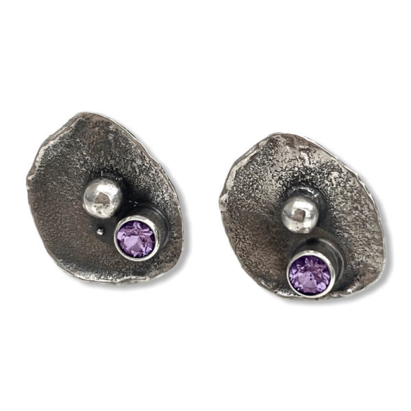 Simple Connections Gemstone Stud Earrings by Susan Wachler Jewelry