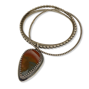 Jasper Bangle Bracelet Set by Susan Wachler Jewelry