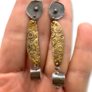 Mixed Metal Connections Earrings by Susan Wachler Jewelry