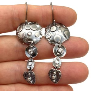 Playful Connections White Topaz Earrings by Susan Wachler Jewelry
