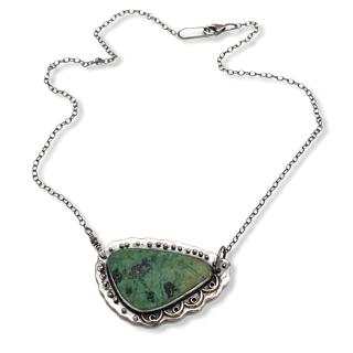 Pistachio Connections Pistachio Jasper Necklace by Susan Wachler Jewelry