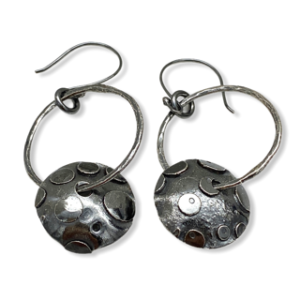 Playful Hoops Sterling Silver Earrings by Susan Wachler Jewelry