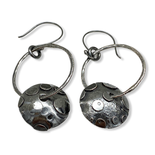 Playful Hoops Sterling Silver Earrings by Susan Wachler Jewelry