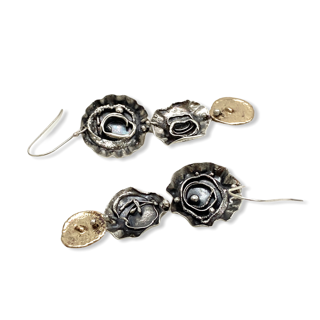 Organic Connections Mixed Metal Earrings by Susan Wachler Jewelry