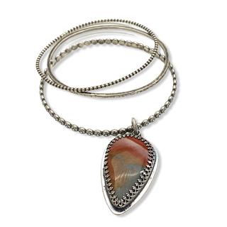 Jasper Bangle Bracelet Set by Susan Wachler Jewelry