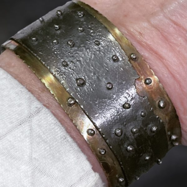 Mixed Metal Connections Cuff Bracelet by Susan Wachler Jewelry