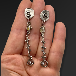 Honeyed Connections Tourmaline Earrings by Susan Wachler Jewelry