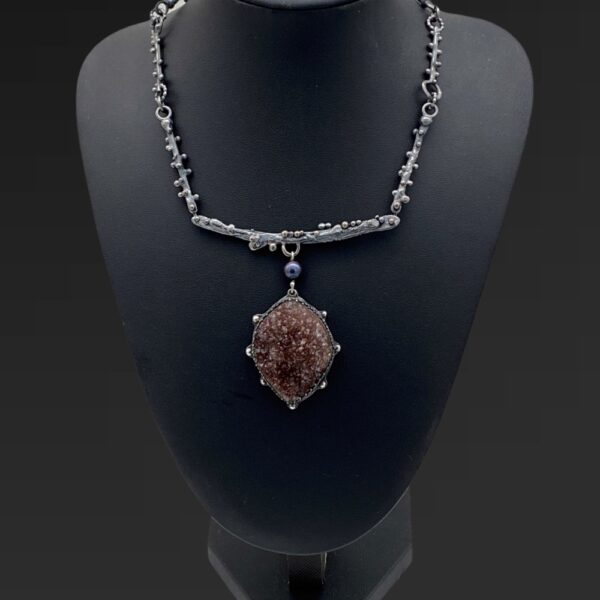 Purple Seas Amethyst and Pearl Necklace by Susan Wachler Jewelry