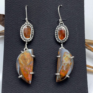 Kyanite and Boulder Opal Earrings by Susan Wachler Jewelry