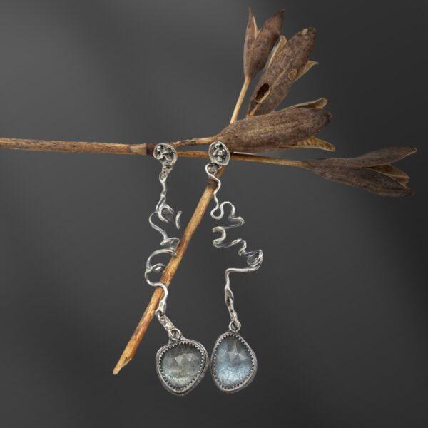 Aquamarine Skwigglers Aquamarine Earrings by Susan Wachler Jewelry