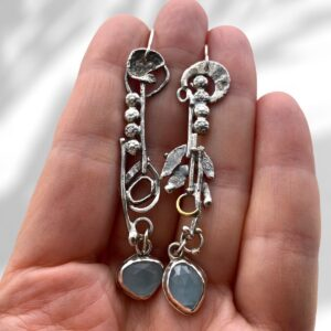 Blue Shores Sterling Silver Aquamarine Earrings by Susan Wachler Jewelry