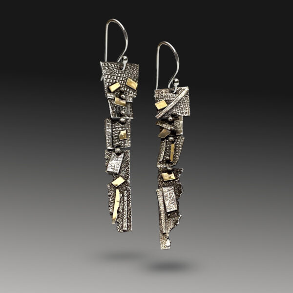 Dangling Connections Gold and Silver Earrings by Susan Wachler Jewelry