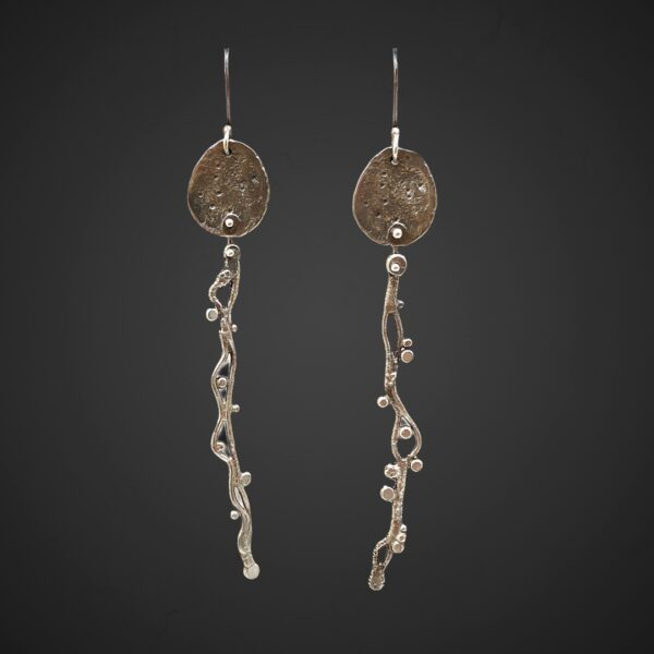 Tender Connections Silver Earrings by Susan Wachler Jewelry
