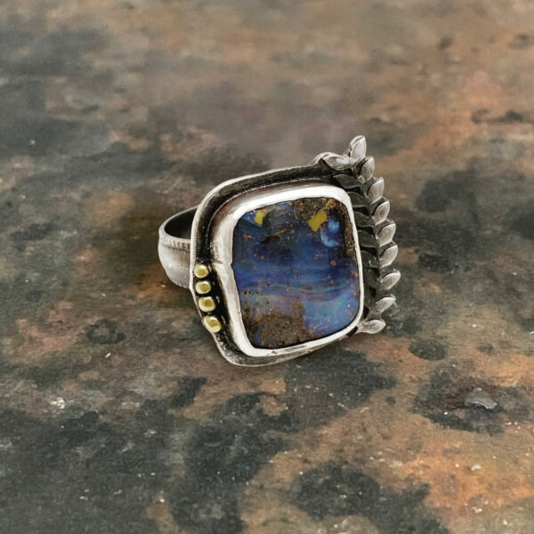 Starry Starry Night Art Jewelry Ring by Susan Wachler Jewelry