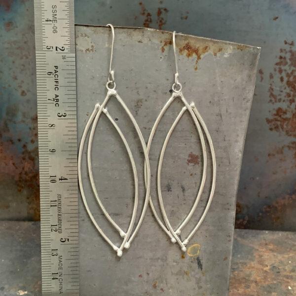 Vesica Pisces Silver Wire Earrings by Susan Wachler Jewelry