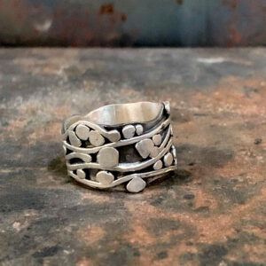 Wandering Vines Silver Ring by Susan Wachler Jewelry