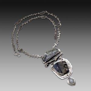 Fabulous Fluorite Art Jewelry Necklace by Susan Wachler Jewelry
