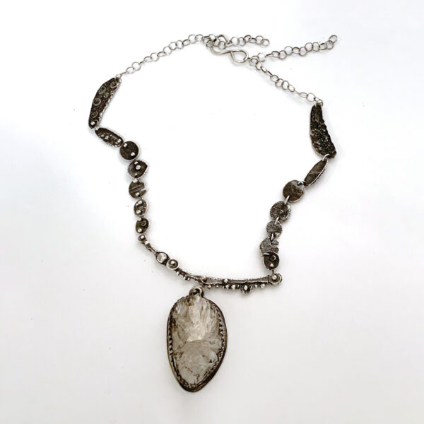 Crystal Connections Silver Crystal Necklace by Susan Wachler Jewelry