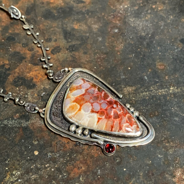 Coral Connections Silver Coral Necklace by Susan Wachler Jewelry